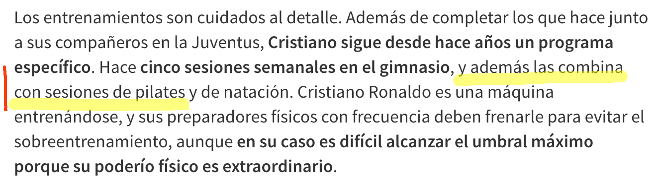 Texto Ronaldo y Pilates